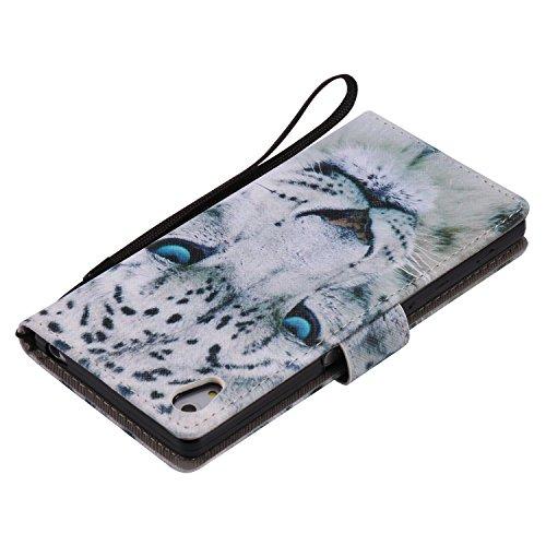PU Xperia Z5funda Flip cover de piel para Sony Xperia Z5Flip Cover Funda Libro Con Tarjetero Función Atril magnético + Polvo Conector morado 7 8