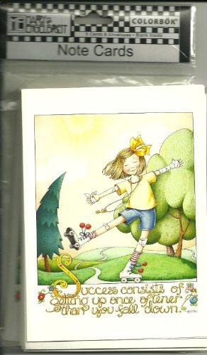 8 NOTE CARDS § ENVELOPES, BLANK INSIDE, COLORBOK