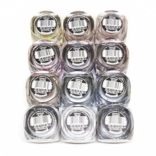 L.A. Colors Iced Pigment Powder Eye shadow Metallic (12 colors set)