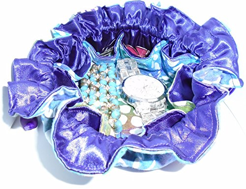 25% OFF! TURQUOISE PURPLE Travel Jewelry Pouch Bag & Cosmetic Tote! GREAT GIFT! by Luggage Spotter (Image #2)
