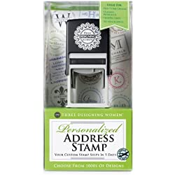 Three Designing Women Custom Designer Address Self-Inking Stamp