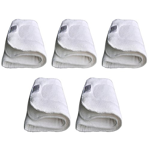 EcoAble Teen/Adult Microfiber Inserts for Incontinence Cloth Diapers (5-Pack, Microfiber)