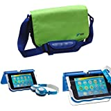 Ultimateaddons Value Bundle for InnoTab Max with Green Bag, Blue Headphones and 6 Screen Protectors
