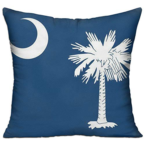 Demin09 Throw Pillows 18x18 South Carolina State Flag Cushion Sleeping Decorative Pillow, Including Inserts & Covers