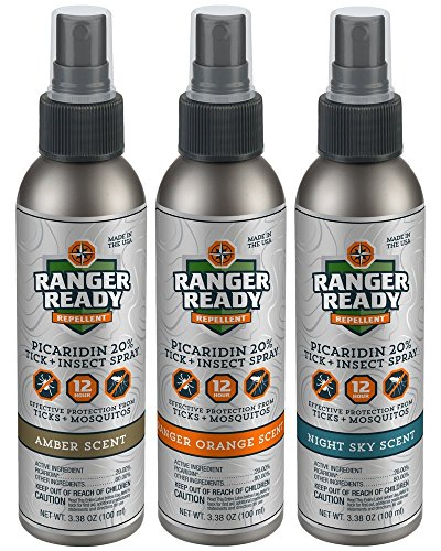 Ranger Ready Repellents Picaridin 20% Tick + Insect Repellent Spray Travel Pack | Variety | 3X 100ml/3.4oz by Ranger Ready Repellents