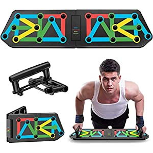 Foldable Pushup Board System 13-in-1 Portable Multicolor Home Training Equipment for Men Women Fitness Exercise Body…