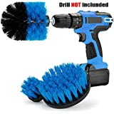 Drill Brush Kit- Heavy Duty Drill Scrubbers Attachment Set - All Purpose for Cleaning Kitchen, Furniture, Brick, Bathtub, Toilet,Grout, Floor - Pack of 3 (Blue)