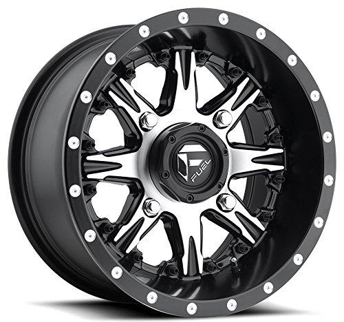 Bundle - 9 Items: Fuel Nutz Black 14'' Wheels 30'' Intimidator Tires [4x156 Bolt Pattern 12mmx1.25 Lug kit] by Powersports Bundle (Image #1)