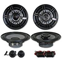 Crunch 6.5 2-way Car component system + 6.5 3-way coaxial speakers