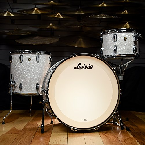 Ludwig Maple Classic Drum - Ludwig 13/16/24 Classic Maple Pro Beat Kit White Marine Pearl