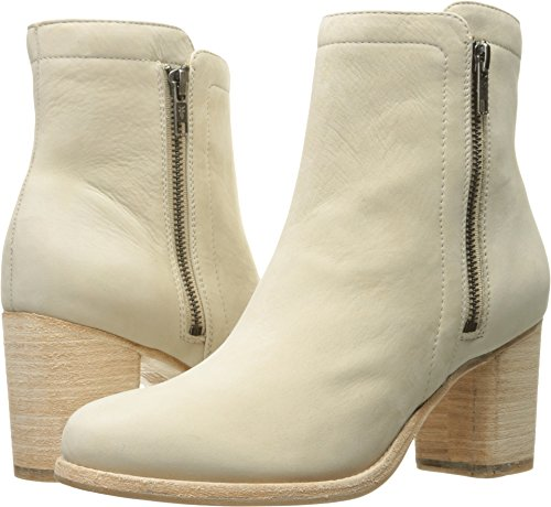 Ivory Womens Boots - FRYE Women's Addie Double Zip Ankle Boot, Ivory, 10 M US
