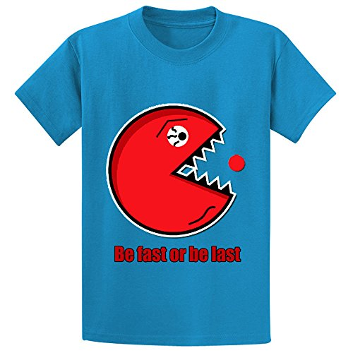 Price comparison product image Bravefiller Personalized Be First Or Be Last Kids T Shirts Blue