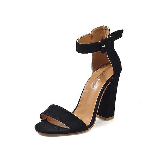 Scarpe Donna Tacco Plateau,Kword Sandalo con Cinturino Cinturino con alla Caviglia   2cb659