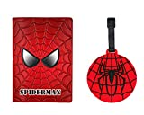 Passport Cover - Anime Character Design Holder - w/ Luggage Tag (Spiderman)