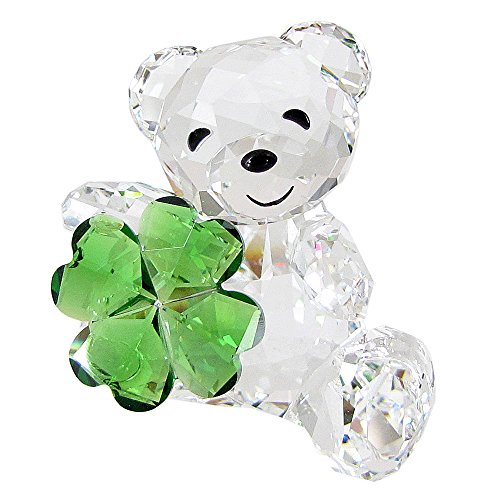 Swarovski Kris Bear Crystal Figurine, Good Luck -