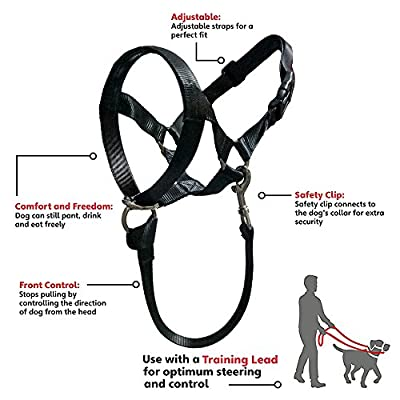 Barkless Dog Head Collar, No Pull Training Tool for Dogs on Walks, Includes Free Training Guide, 5 (XXL) from Barkless