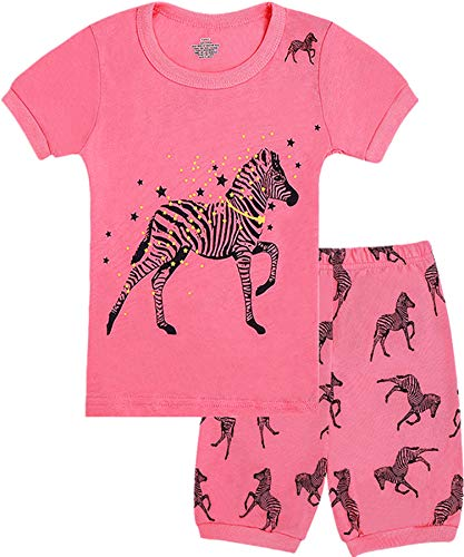 WWEXU Girls Pajamas Baby Girls Pyjamas 12M-12 Years PJS 100% Cotton Kids Loungewear Children Pajamas Pyjamas for Girls (1Pink, 12M) ()