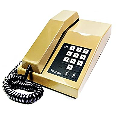f188e1fd5 Rhapsody - Vintage 1980 s BT Telephone with Bell Ring in Beige   Amazon.co.uk  Electronics