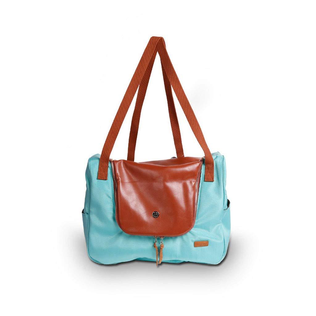 C Portable Pet Backpack Dog Travel Diagonal Bag Out Bag Pet Travel Pu Folding Bag,B