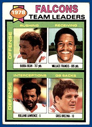 1979 Topps #263 Atlanta Falcons Bubba Bean Wallace Francis Rolland Lawrence Greg Brezina (poor due to being a marked checklist) ()