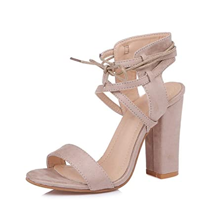 8dc77d400da8b Amazon.com : Kyle Walsh Pa Women Heeled Sandals Bandage Ankle Strap ...