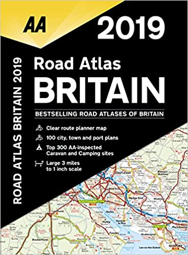 2019 Road Atlas Britain: AA Publishing: 9780749579579 ... Road Atles Maps Book on