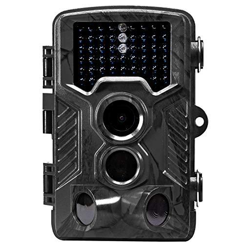 【人気ショップが最安値挑戦!】 funks 防犯カメラ ソーラーパネル対応 電池式トレイルカメラ SDカード録画 防犯カメラ SDカード録画 1600万画素 1600万画素 ブラック B07NMDLRLR, 静岡うまいもの:d90e1d56 --- mfphoto.ie