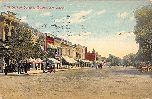 (Washington Iowa East Side Of Square Street View Antique Postcard K72783 )