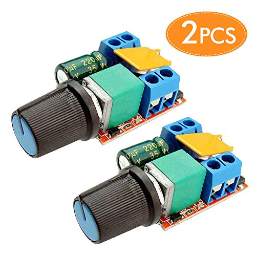 Motor Speed Controller PWM DC 3V 6V 12V 24V 35V 5A Speed Control Ultra Small LED Dimmer(2PCS)