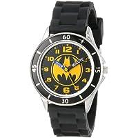 Batman BAT9152 reloj para aprender la hora con banda de goma negro para niños