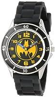 DC Comics Boy's Quartz Metal and Rubber Watch, Color:Black (Model: BAT9152)