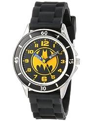 Batman Kids\' BAT9152 Time-Teacher Watch with Black Rubber Ba...