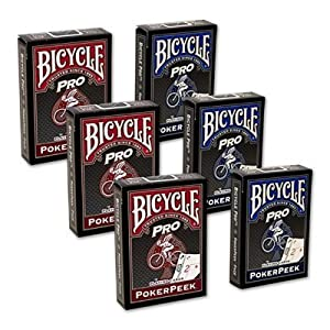 Cards Bicycle Pro Poker Peek – 6 PACK (Mixed)
