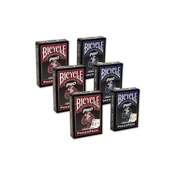 Cards Bicycle Pro Poker Peek - 6 PACK (Mixed) 3