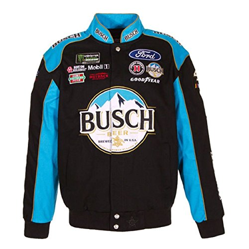 c Kevin Harvick Busch Black Jacket Size Large ()