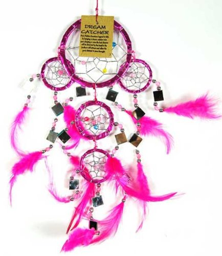 Dream Catcher Pink 9CM With Mirrors Cleo