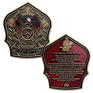 Firefighter Prayer Challenge Coin Fireman Gifts by Southkingze