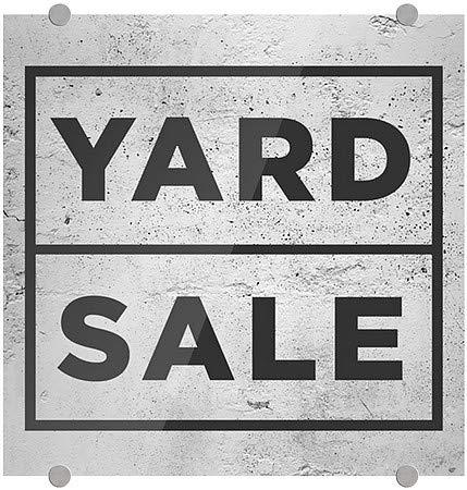 Basic Gray Premium Acrylic Sign CGSignLab Yard Sale 5-Pack 16x16