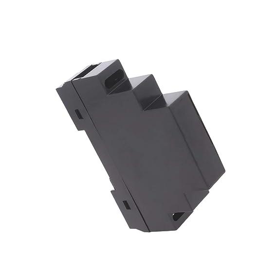 WITTKOWARE Hutschienengeh/äuse 4TE 90x70x65mm schwarz