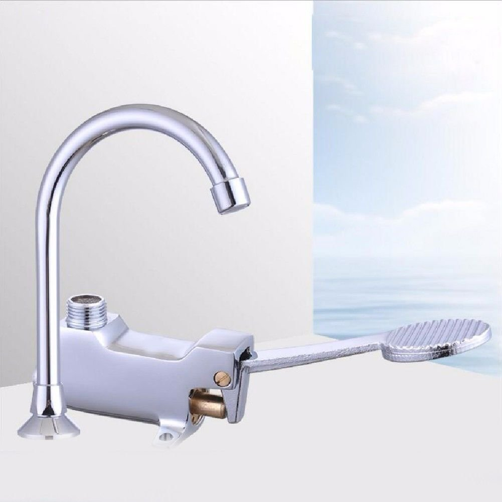 Lpophy Bathroom Sink Mixer Taps Faucet Bath Waterfall Cold and Hot Water Tap for Washroom Bathroom and Kitchen MultiLayer Electroplated Brass Body Punch Valve TimeDelay