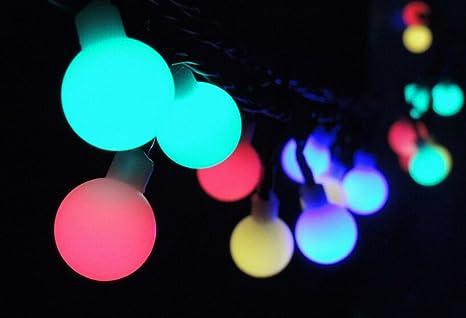 Aiigou Solar Leuchten 50 Led Weihnachtsbeleuchtung Lichterkette