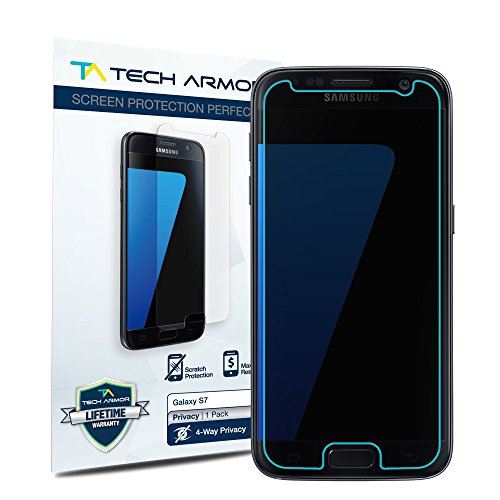 Tech Armor 4 Way 360 Degree Screen Protector for Galaxy S7, Single Pack (4 Way Screen)