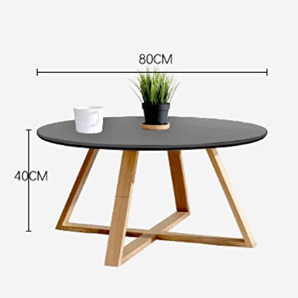 Amazon.com: Round Coffee Table Side Table Japanese Style Living Room ...