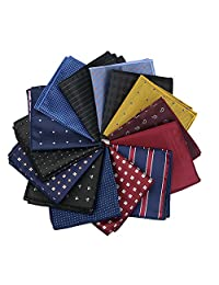 Mantieqingway Wholesale Men's Print Pocket Square Handkerchief 14PCS/LOT(016)