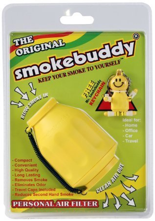 1 X Yellow Smoke Buddy - Personal Air Purifiery and Odor Diffuser