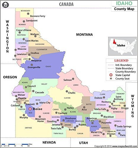 Idaho County Map - Laminated (36