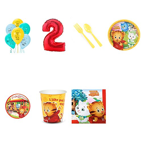 Daniel Tiger Party Supplies 2nd Birthday Pack for 24]()