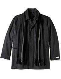 Calvin Klein Mens Big-Tall Big-Tall Wool Scarf Coat