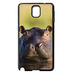 D-PAFD Customized Print Hippo Hard Skin Case Compatible For Samsung Galaxy Note 3 N9000