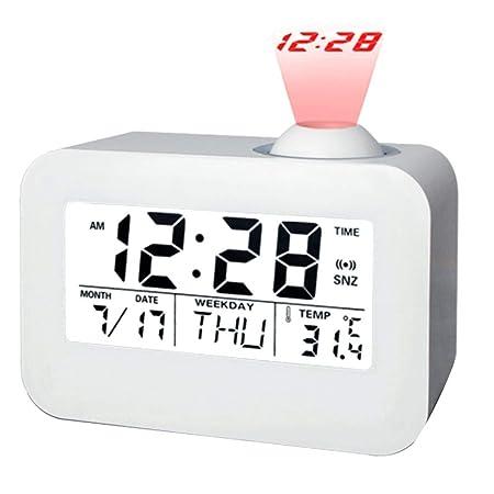 Chenqi Proyector LED Reloj Alarma Multifunción ...